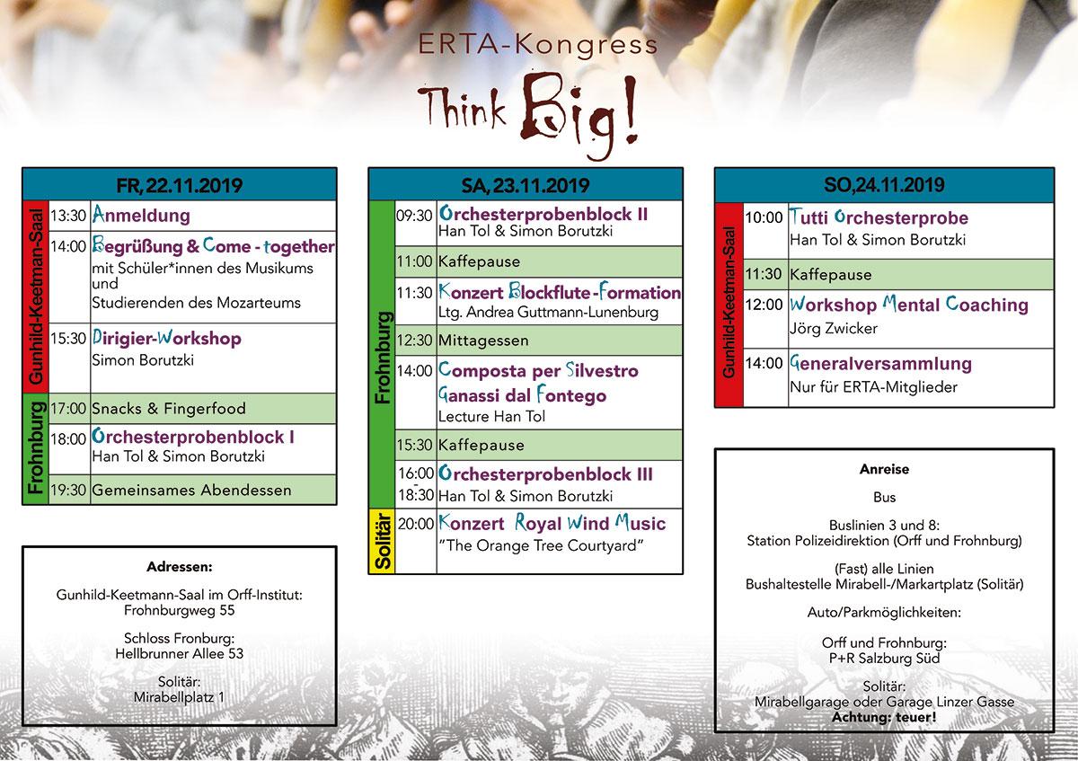 ERTA Kongress Zeitplan